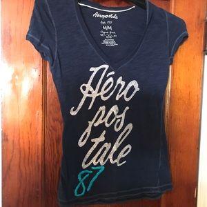 Aeropostale navy v neck  T-shirt